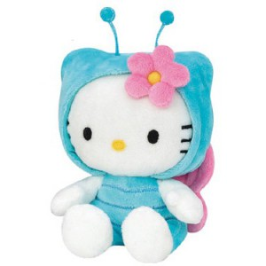Hello Kitty - Peluche papillon 15 cm
