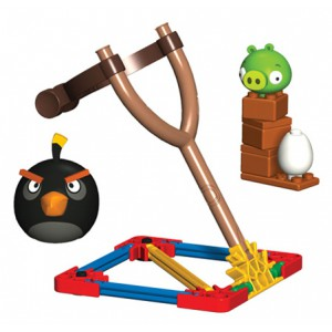 Angry Birds - Jeu de construction Black Bird vs. Small Minion Pig