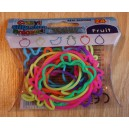 "24 Bracelets Crazy Silicon Bands - Thème ""Fruit"""