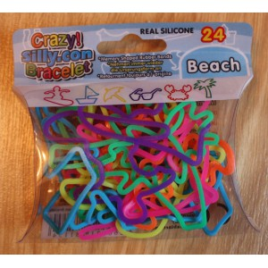 "24 Bracelets Crazy Silicon Bands - Thème ""Beach"""