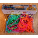 "24 Bracelets Crazy Silicon Bands - Thème ""Fast Food"""