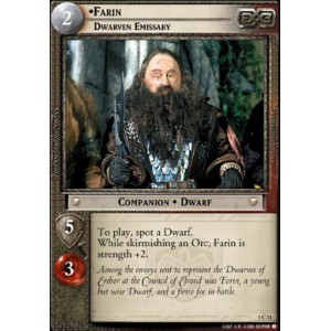 The Lord of the Rings - The Fellowship of the Ring - Farin, Dwarven Emissary - 1C11