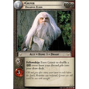 The Lord of the Rings - The Fellowship of the Ring - Grimir, Dwarven Elder - 1U17