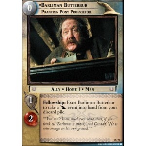 The Lord of the Rings - The Fellowship of the Ring - Barliman Butterbur, Prancing Pony Proprietor - 1U70