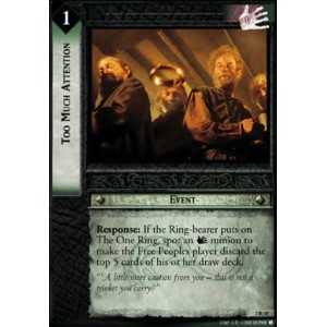 The Lord of the Rings - Mines of Moria - Too Much Attention - 2R45