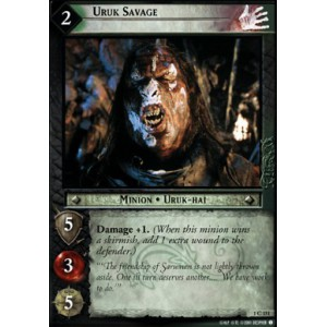 The Lord of the Rings - The Fellowship of the Ring - Uruk Savage - 1C151 - Version Brillante/FOIL