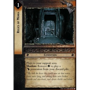 The Lord of the Rings - The Fellowship of the Ring - Relics of Moria - 1R195 - Version Brillante/FOIL