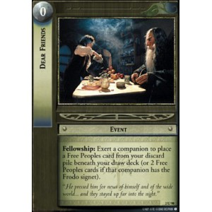 The Lord of the Rings - Mines of Moria - Dear Friends - 2U98 - Version Brillante/FOIL