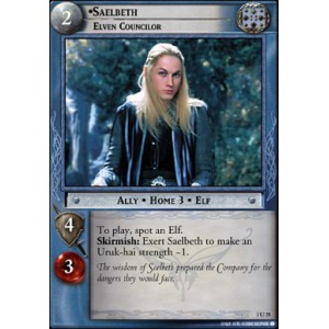 The Lord of the Rings - Realms of the Elf-lords - Saelbeth, Elven Councilor - 3U25 - Version Brillante/FOIL